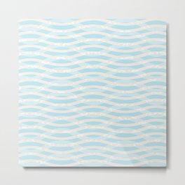 Pastel Waves II Metal Print
