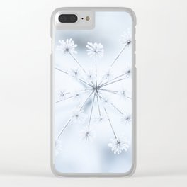 Beautiful Dry Flower with Ice Crystals #decor #buyart #society6 Clear iPhone Case