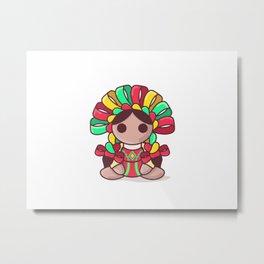 Mexican doll Metal Print