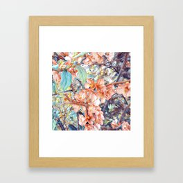 Aquarell Floral 05 Framed Art Print
