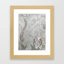 Body Map Framed Art Print