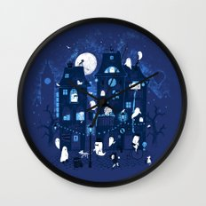 Midnight in Ghost Town Wall Clock