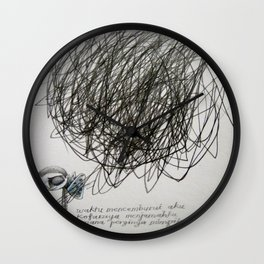 time, city and lost dream Wall Clock