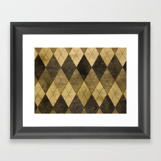 Wooden big diamond Framed Art Print