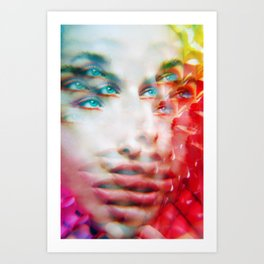 Infinite Infinity Visions - Lush Vivid Multitudes of her Eyes and Face Art Print
