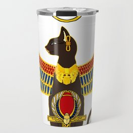 Winged Bast w/Ankh Travel Mug