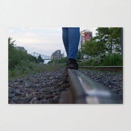The train track-gravel equilibrium Canvas Print