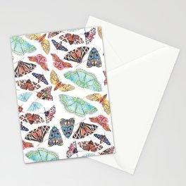 Nature Illustration of Moths Stationery Cards