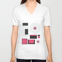 gamer V-neck T-shirts featuring Gamer by Nicolas Beaujouan