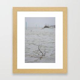 Early Fog On New Smyrna Beach Framed Art Print
