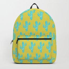 Linocut Cacti Desert Backpack