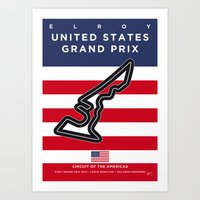 My F1 AMERICAS Race Track Minimal Poster Art Print