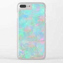 Rainbow Opal Clear iPhone Case