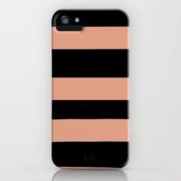 Pratt and Lambert Earthen Trail 4-26 Hand Drawn Fat Horizontal Lines on Black iPhone Case