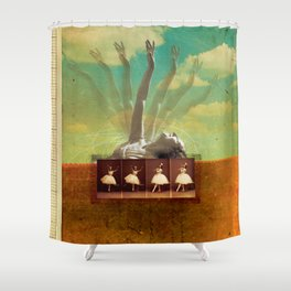 Social Life #2 (The Dancer) Shower Curtain