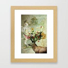Happy Elk Framed Art Print