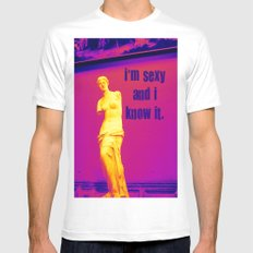 I'm sexy and I know it - Venus edition Mens Fitted Tee MEDIUM White