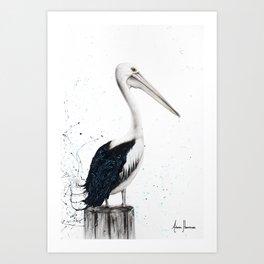 Beach Pelican Art Print