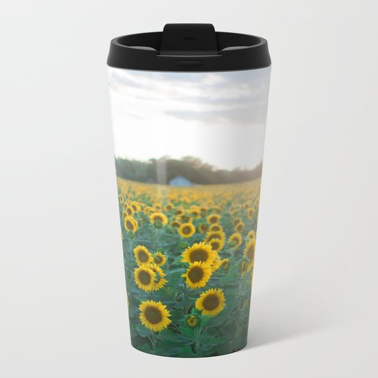 Sunflower Day Metal Travel Mug