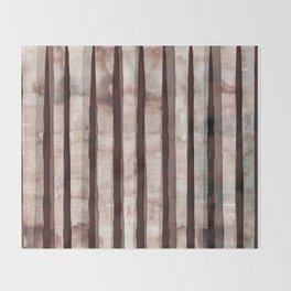 Birch Marsala Watercolor Throw Blanket