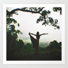 Forest Yoga Art Print