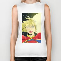 supergirl Biker Tanks featuring New 52! Supergirl by Jeremy Gonzalez