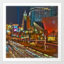 Enjoy The Night In Las Vegas Art Print