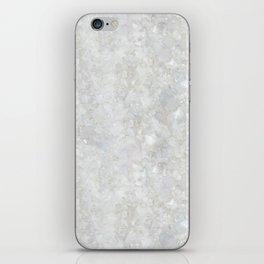 White Apophyllite Close-Up Crystal iPhone Skin