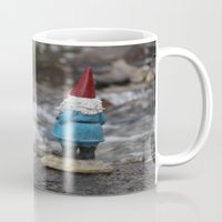 gnome Mugs featuring River gnome by Rose&BumbleBee