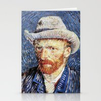 van gogh Stationery Cards featuring Van Gogh  by klausbalzano