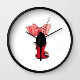High Heels,Girls Bedroom Decor,Wall Art,Gift For Her,Fashion Print,Fashionista,Printable Art Wall Clock