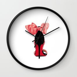 High Heels,Girls Bedroom Decor,Wall Art,Gift For Her,Fashion Print,Fashionista,Printable Art Wall Clock