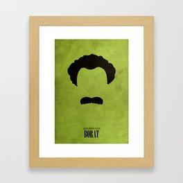 Borat - Minimal Framed Art Print