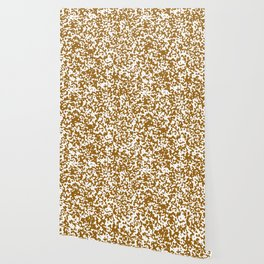 Small Spots - White and Golden Brown Wallpaper