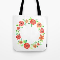 Spring flower wreath Tote Bag