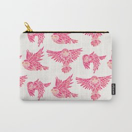 Owls in Flight – Pink Palette Carry-All Pouch
