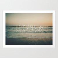 leah flores Art Prints featuring Let's Run Away by Laura Ruth and Leah Flores  by Laura Ruth
