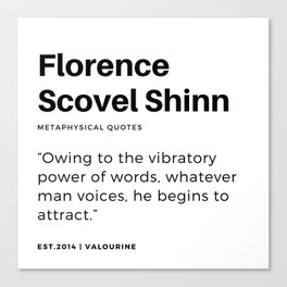 15   | Florence Scovel Shinn Quotes | 200126 Canvas Print
