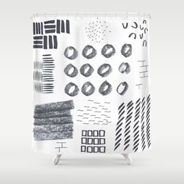 Abstract Marks Nr 1 Shower Curtain
