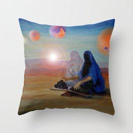 Balancing the Universes Throw Pillow