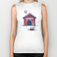 home sweet home Biker Tanks featuring Home Sweet Home by Nick Volkert