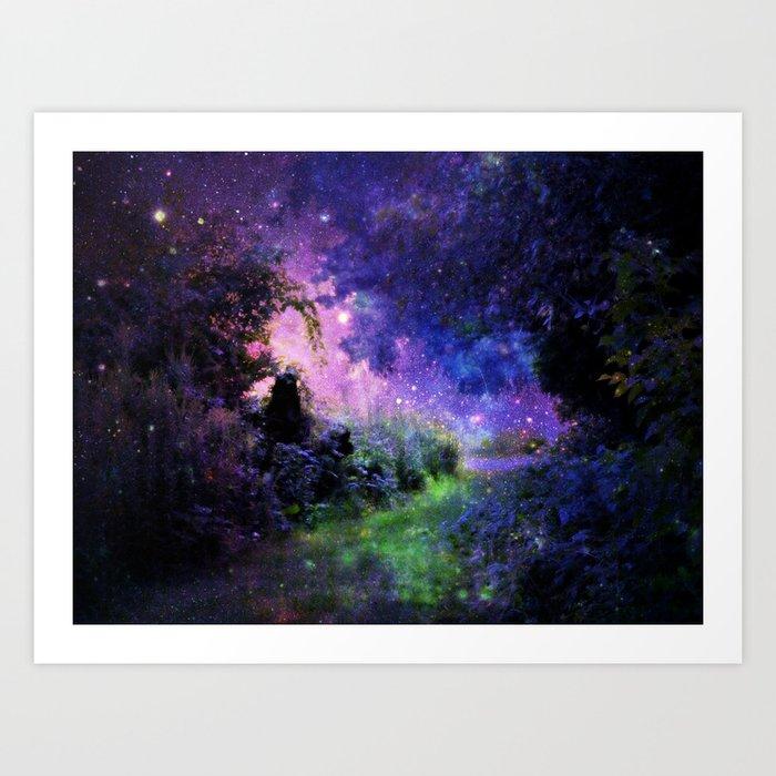 Fantasy Path Night Art Print
