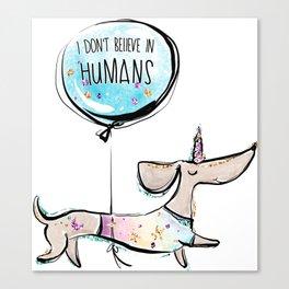 Dachshund gift, Dog lover gift, Funny dog, Cute Dog, Unicorn Dog Unicorn gift Canvas Print