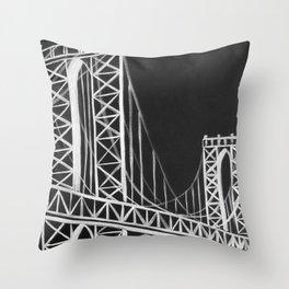 No. 59 Brooklyn Bridge  Throw Pillow
