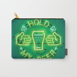 Hold My Beer Neon Sign Green Carry-All Pouch