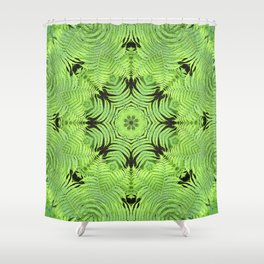 Fern frond fantasy kaleidoscope Shower Curtain