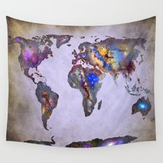 Stars world map. Space. Wall Tapestry