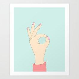 A-Okay Art Print