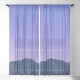 Summer Sunset Lake Adventure Sheer Curtain