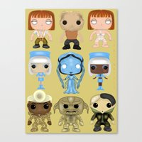 fifth element Canvas Prints featuring The Fifth Element Customs by SpaceWaffle